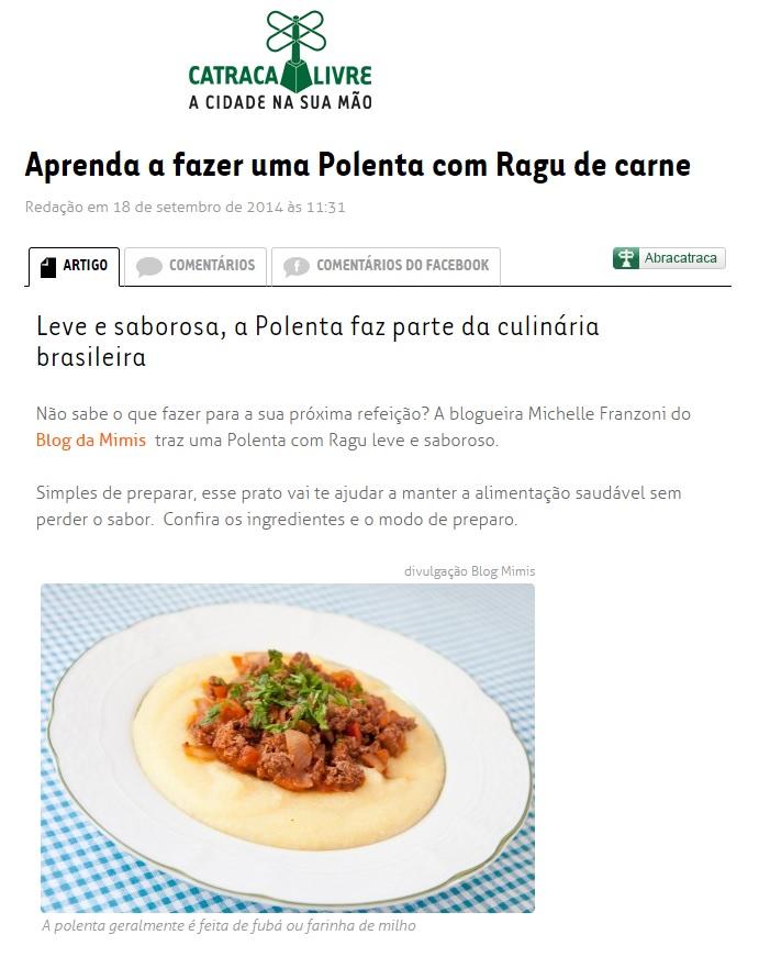 Blog da Mimis no Catraca Livre 18.09.2014