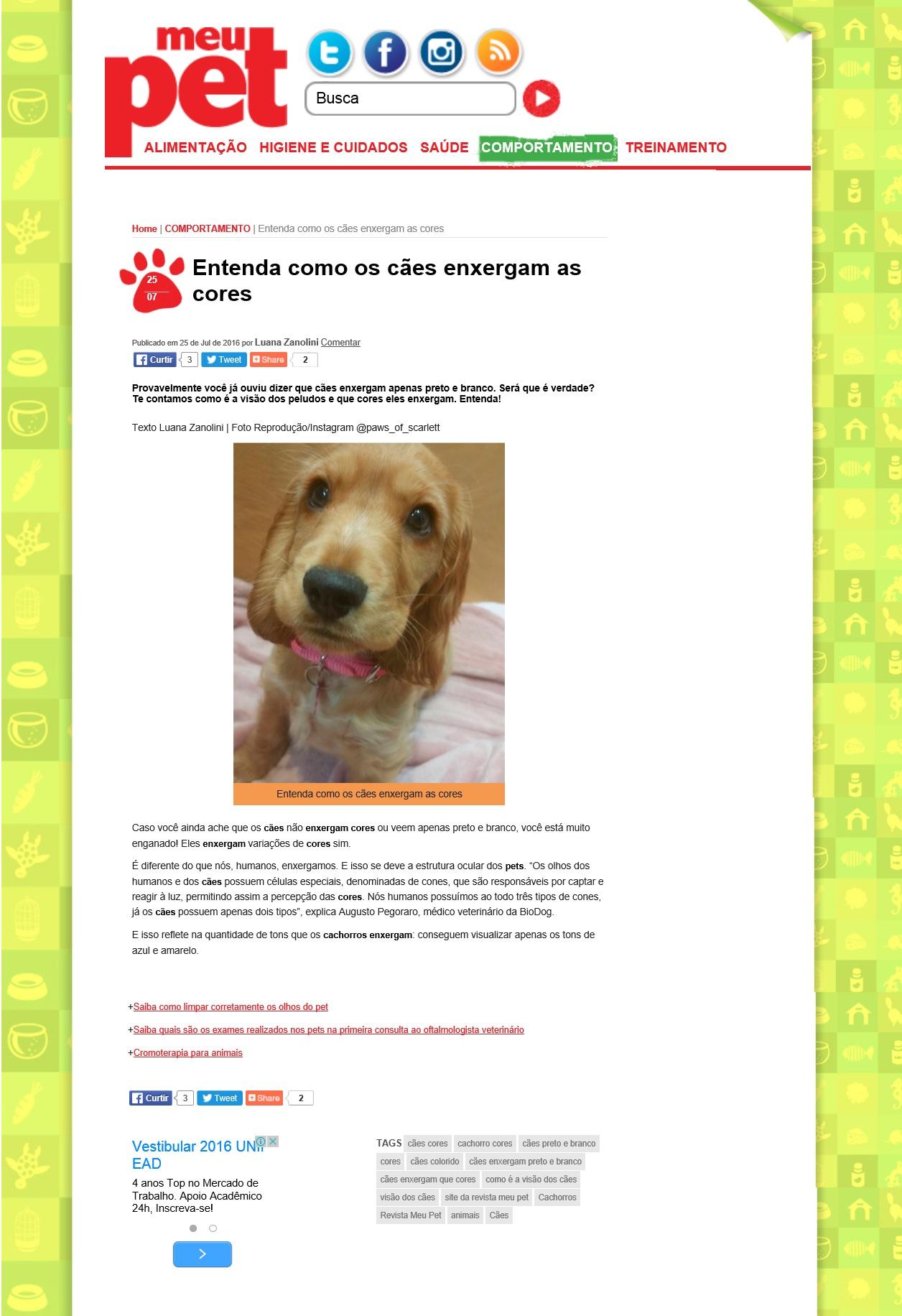 BioDog no Site da Revista Meu Pet_26.07.2016